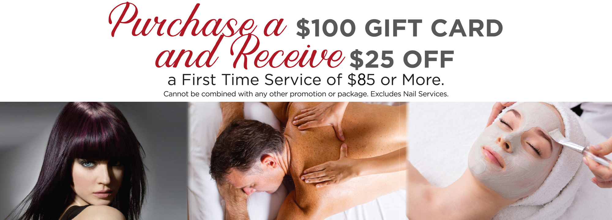 Purchase a $100 Gift Card and Receive $25 Off